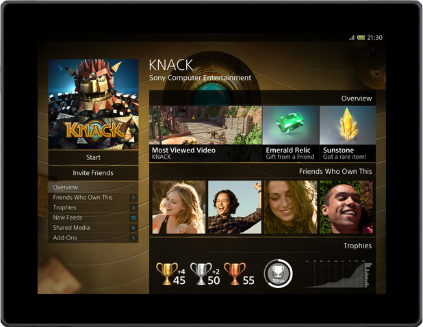 The Knack Game Page (from tablet)