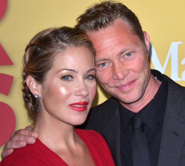 Christina Applegate and husband Martyn LeNoble.