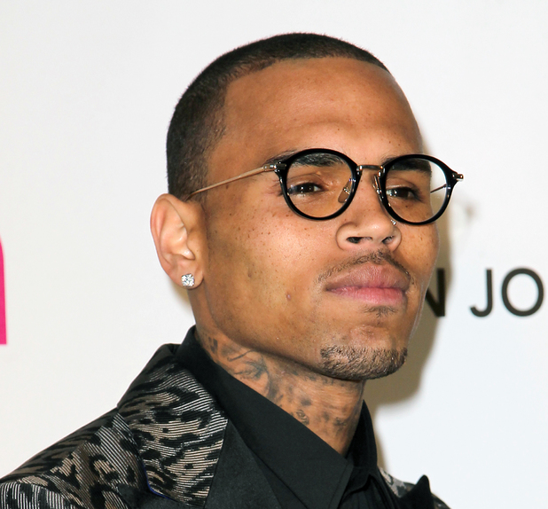 Chris Brown, 21st Annual Elton John AIDS Foundation's Oscar Viewing Party