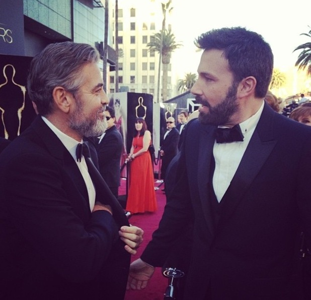 George Clooney and Ben Afleck at the Oscars