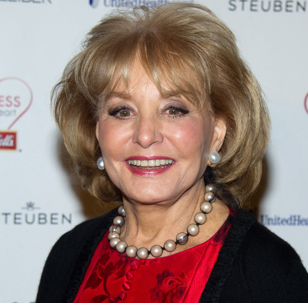 Barbara Walters attends Woman's Day magazine's Eight Annual Red Dress Awards in New York, Tuesday, Feb. 8, 2011.