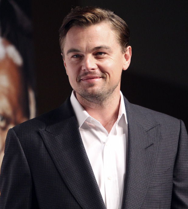 "Leonardo DiCaprio poses for a photo call during a press conference for his new film ""DJango Unchained"""