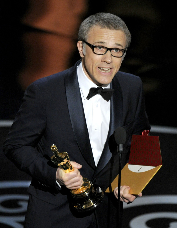 Christoph Waltz accepts his Oscar for 'Django Unchained'
