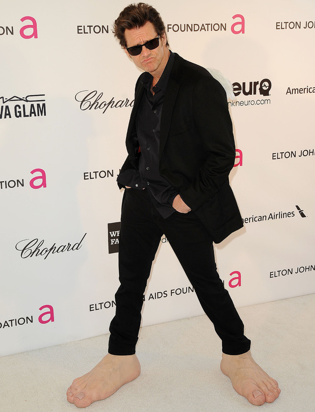 85th Annual Academy Awards Oscars, Elton John AIDS Foundation Party, Los Angeles, America - 24 Feb 2013 Jim Carrey