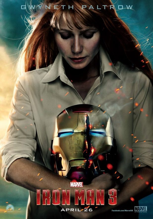 Iron Man 3 Pepper Potts poster