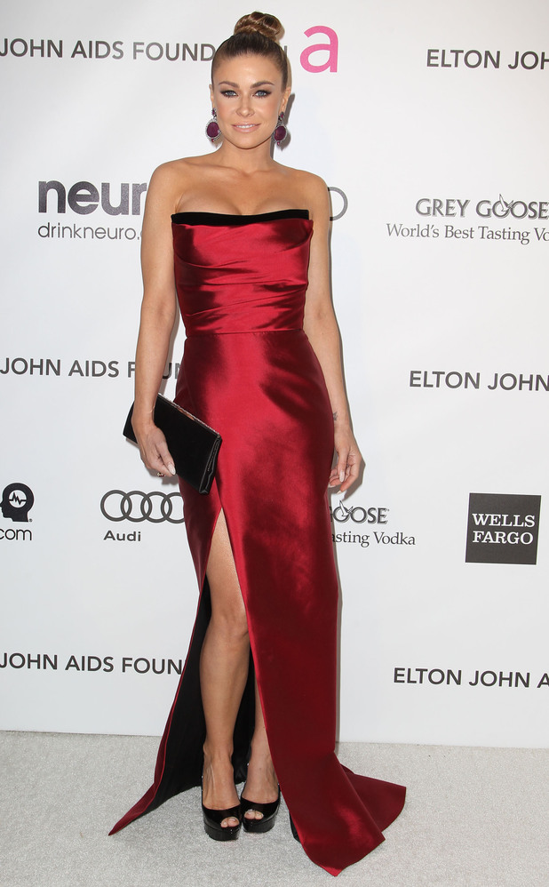 carmen electra red dress on red carpet