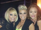 Atomic Kitten - Liz McClarnon, Kerry Katona and Natasha Hamilton backstage at the Big Reunion
