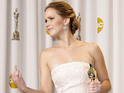 Silver Linings Playbook star shouts and swears while still clutching her award.