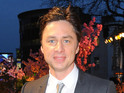 Zach Braff reveals bizarre run-in with Anne Hathaway's father.