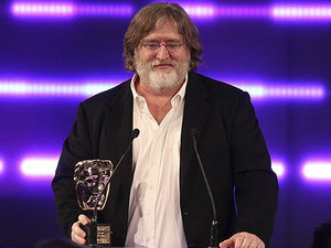 Gabe Newell receives the BAFTA Fellowship for his continued contribution to the Games Industry. Gabe is CEO of game development and digital distribution company Valve