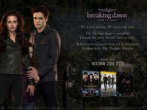 Twi-line Twilight Breaking Dawn ad