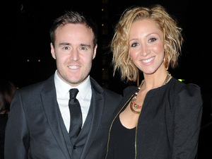 Alan Halsall and Lucy Jo Hudson arrive at the Mirror Ball in Manchester.