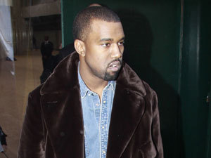 Kanye West attends Celine show in Paris