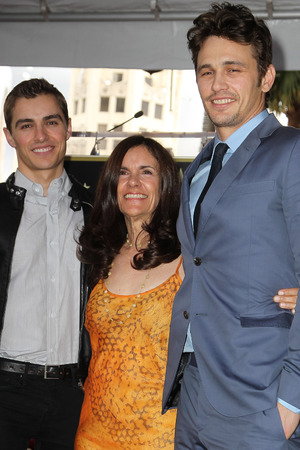 James Franco with mum Betsy and brother Dave at the Hollywood Walk of Fame