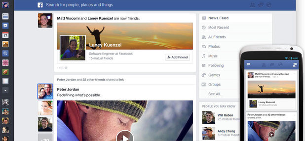 Facebook updates to the Newsfeed