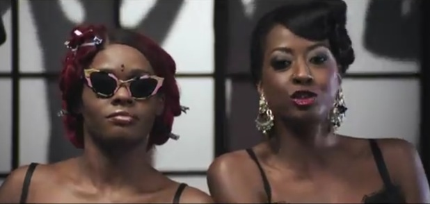 Shystie and Azealia Banks in 'Control It' music video.