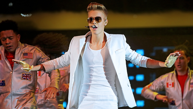 Justin Bieber performs during his 'Believe' tour