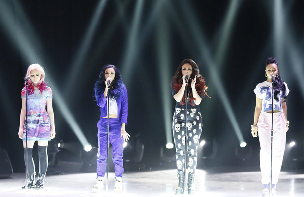 Little Mix performing on Comic Relief's Big Chat