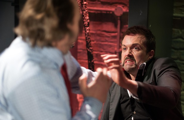 Seamus hits Brendan.