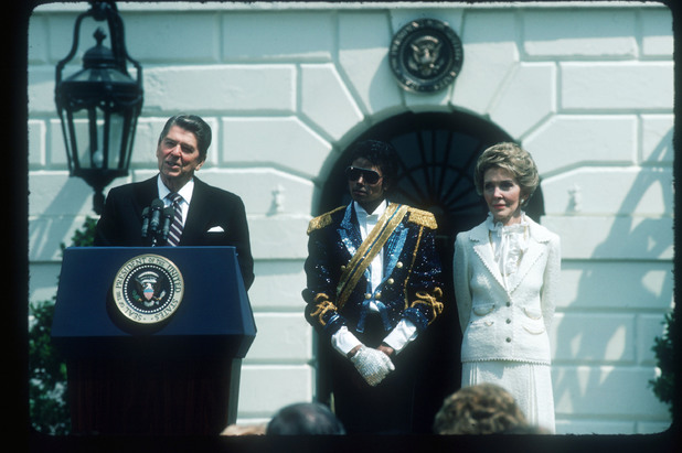 Ronald Reagan, Nancy Reagan, Michael Jackson