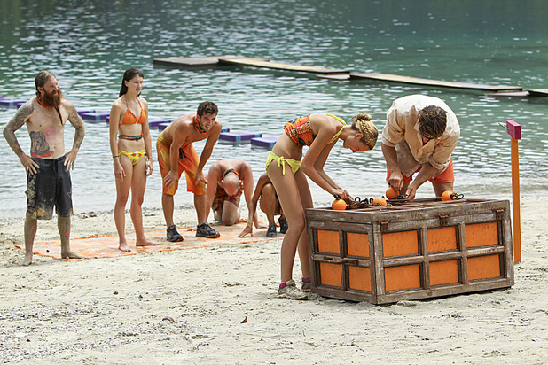 "Survivor: Caramoan - Fans vs Favourites (""Kill or be Killed"") Laura Alexander and Reynold Toepfer and the Gota Tribe compete in the Immunity Challenge."