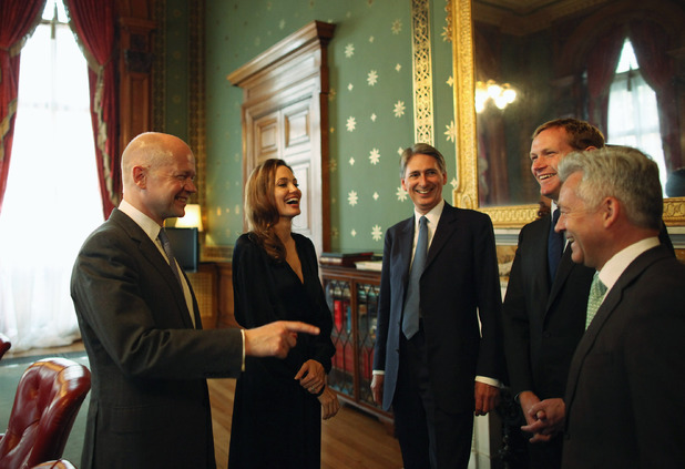 William Hague, Angelina Jolie, Philip Hammond, Jeremy Browne, Lynne Featherstone and Alan Duncan,  Foreign Commonwealth Office