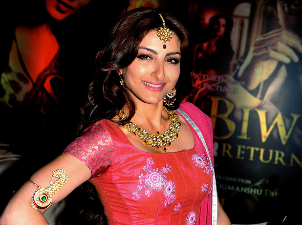 Soha Ali Khan at a 'Sahib Biwi Aur Gangster' first-look event in Mumbai