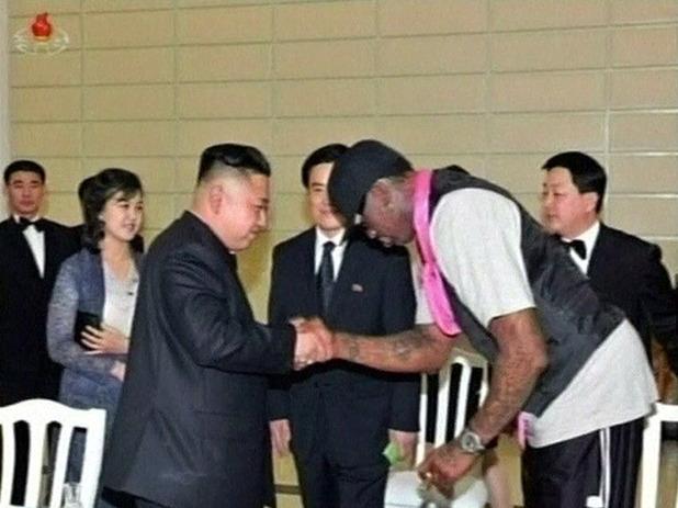 Dennis Rodman, Kim Jong-Un, North Korea