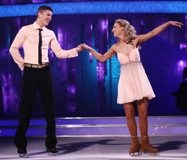 Luke Campbell and Jenna Harrison dance their routine.