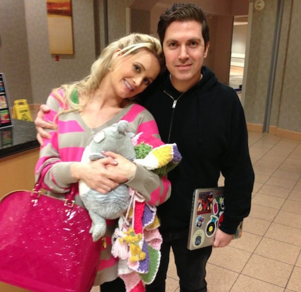 Holly Madison in hospital after birth of baby daughter Rainbow