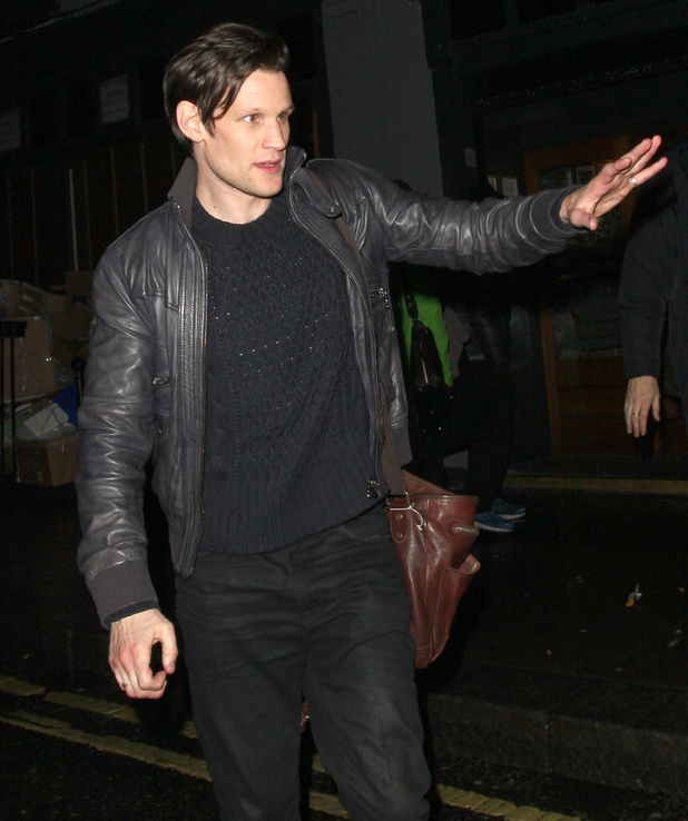 Matt Smith leaving the Groucho Club in Soho.