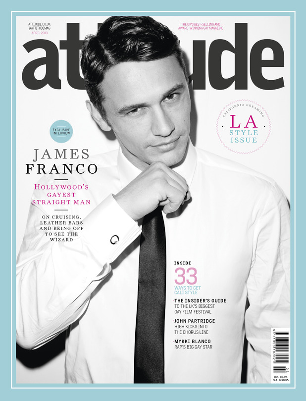 James Franco - Attitude magazine cover