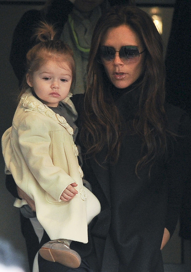 Victoria Beckham and daughter Harper 