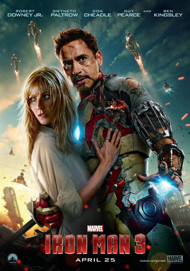 Pepper Potts and Tony Stark - Iron Man 3 poster gallery ...