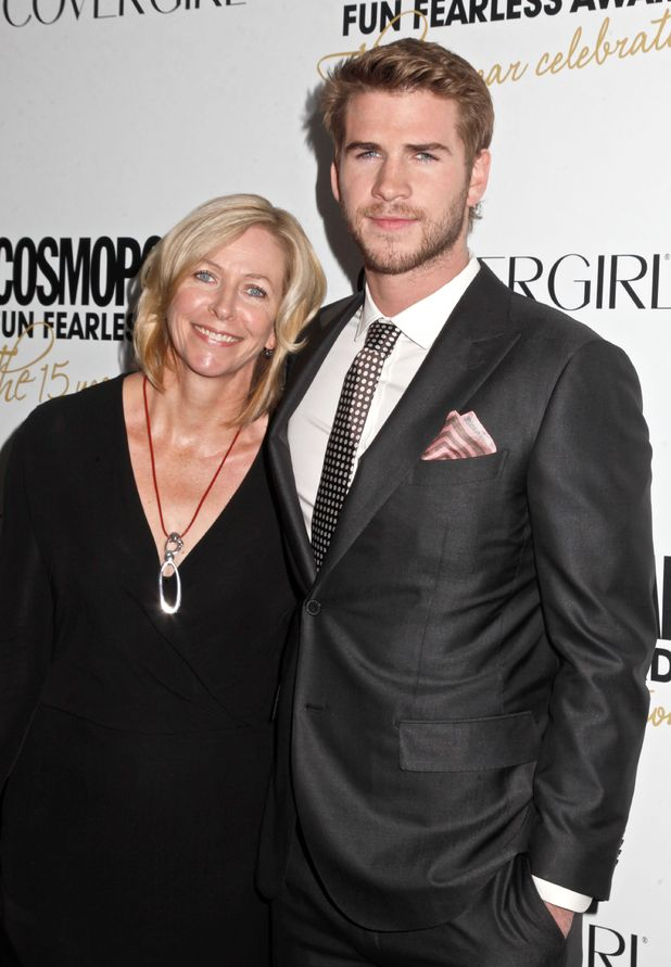 Liam Hemsworth and mother Leonie Hemsworth