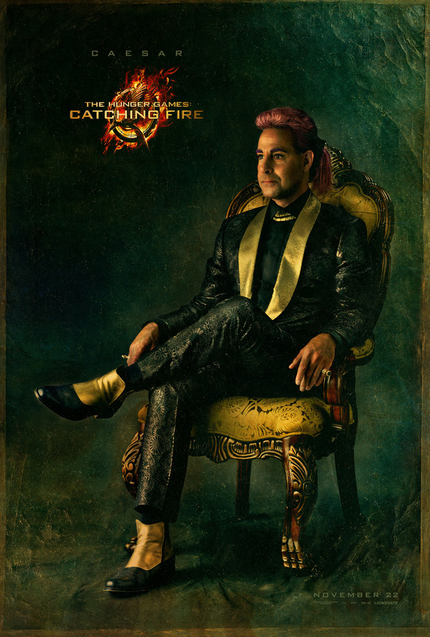 'The Hunger Games: Catching Fire' poster/banner of Caesar
