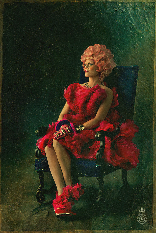 Elizabeth Banks as Effie Trinket in 'The Hunger Games: Catching Fire' poster