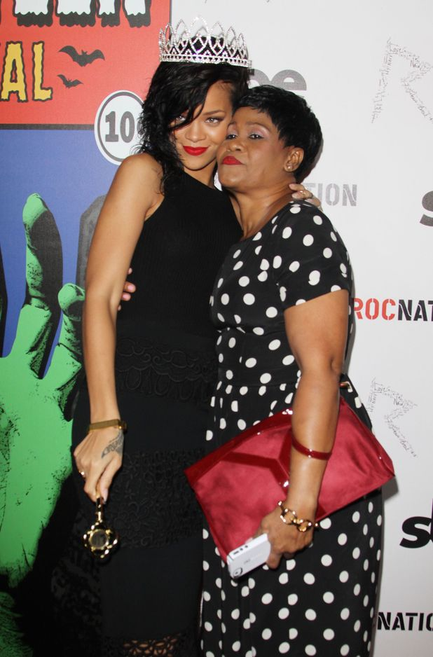 Rihanna and her mum Monica