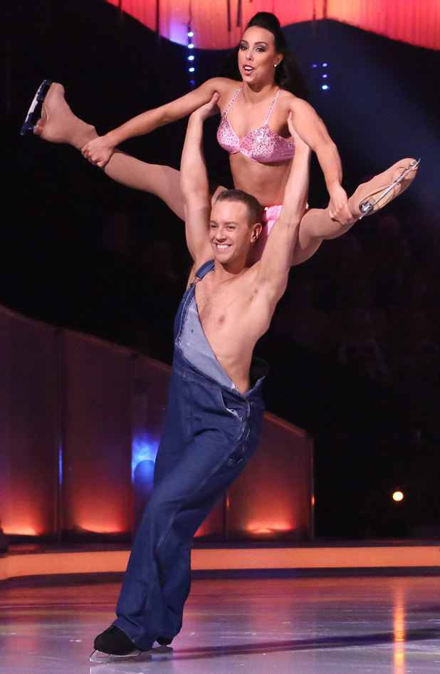Beth and Daniel in the group routine.