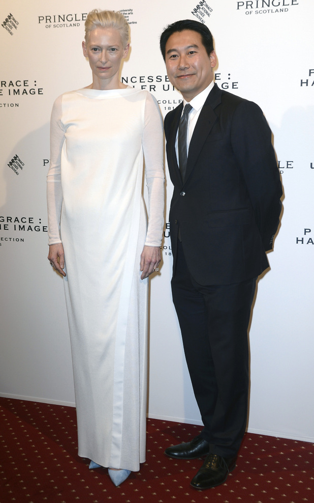 Tilda Swinton and Douglas Fang