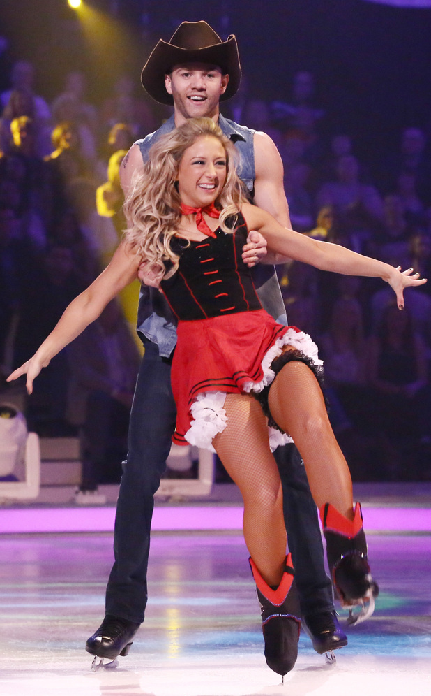 Luke and Jenna during the group routine.