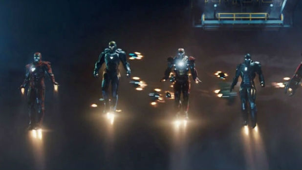 Tony Stark introduces Hulkbuster Armour and Iron Army in new trailer for Iron Man 3.