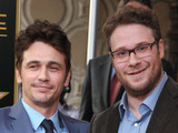 James Franco with Seth Rogen at his Hollywood Walk of Fame star ceremony