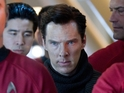 Cumberbatch's villain John Harrison appears amidst a crowd of Starfleet cadets.