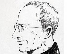 Steve Jobs manga illustration