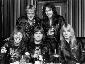 Iron Maiden group shot.
