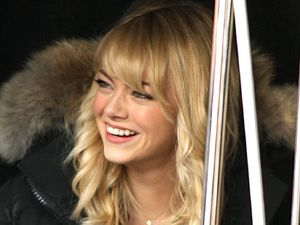 Emma Stone on the set of 'The Amazing Spider-Man 2' in New York
