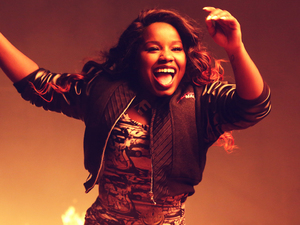 Behind the scenes picture of Misha B's 'Here's To Everything' video
