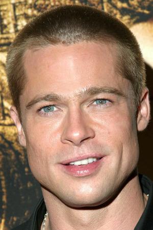 Brad Pitt, shaved head