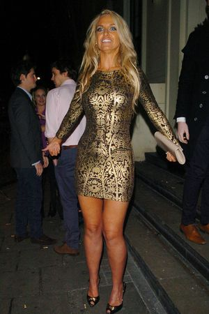 Josie Gibson, OK! Magazine Christmas Party, fake tan